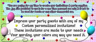 iCarly invitaciones para boletos de cumpleaños + fuentes de fiesta