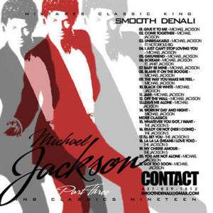 DJ Smooth Denali Michael Jackson vol. 3 Mix Mixtape CD