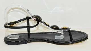 Tory Burch Black Patent Sandal Woman Shoes Sz 11 M*