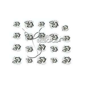 Black Cutout Butterflies Jeweled Nail Stickers/Decals