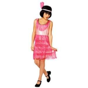 Pink Flapper Costume Roaring 20s Fring Dress Small 4 6x: Toys & Games