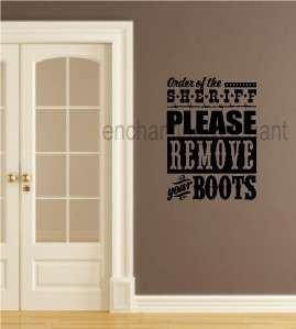 Remove Boots Fun Western Style Theme Vinyl Decal Sticker Lettering