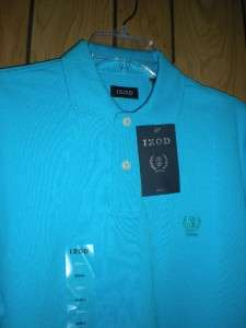 Mens Izod Signature Solid Shirt NWT Small West Aqua