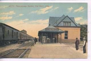 VAN WERT OHIO PENNSYLVANIA RAILROAD DEPOT TRAIN STATION ANTIQUE