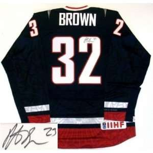 Dustin Brown Signed Jersey   Team Usa Nike Nike