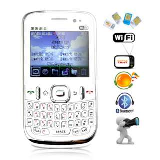 Quad/4 Sim 4 Band Qwerty TV WIFI Mobile Cell phone L1 W