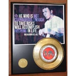 Muhammad Ali 24kt Gold Record Rare Limited Edition Display