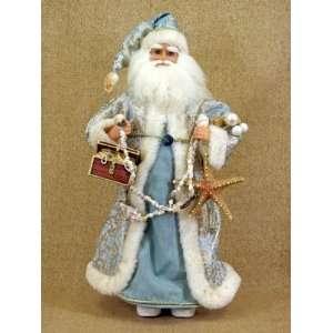 Santa Claus doll by Karen Didion originals light blue
