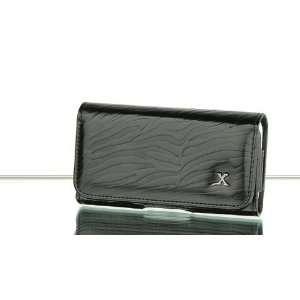Safari Black Zebra Leather Pouch Case Apple iPod Touch