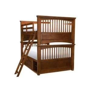 American Spirit Warm Brown Cherry Full/Full Bunk Bed