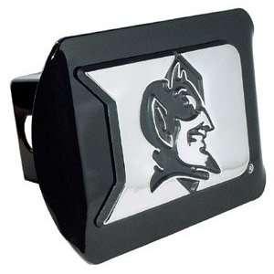 Duke University Blue Devils Black Chrome D with Devil Emblem Metal