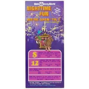 1973 walt disney world Magic Kingdom Flyer Everything