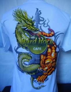 HARD ROCK CAFE BANGKOK THAILAND TATTOO WHITE T SHIRT