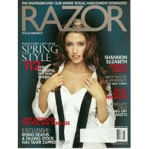 2005 ~ Shannon Elizabeth/ Penelope Cruz/ Clint Eastwood: Razor: Books