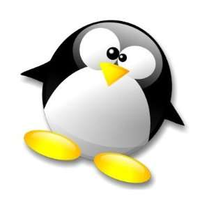 Linux Tux Crystal Round Stickers: Arts, Crafts & Sewing