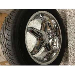 20 inch VCT Chrome Wheels GMC Yukon Denali, Sierra,275 55 20 KUMHO ASX