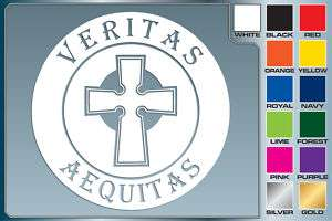 BOONDOCK SAINTS Veritas Aequitas cut vinyl car decal