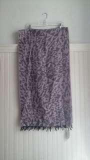 NWT Vivienne Westwood Purple Black Scarf Modern Print