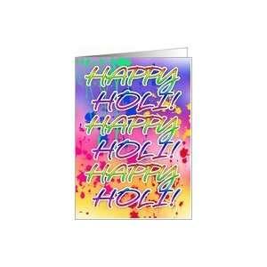Holi Festival Of Colour   Paint Splashes Card: Health