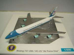 Herpa Wings US Air Force One B747 200 VC 25 NG