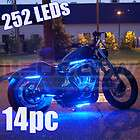 NEW 6pc BLUE LED NEON FLEXIBLE MOTORCYCLE LIGHTING KIT items in