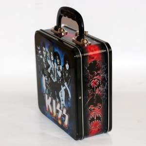 KISS Hard Rock Heavy Metal Band 7 x 9 SQUARE TIN TOTE LUNCH SNACK WORK