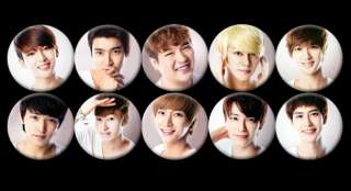 Super Junior Korean Boy Band #5 Collection Buttons Pins [P170]
