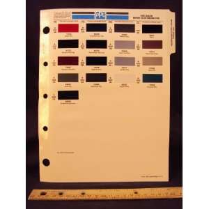 1995 95 JAGUAR IMPORT Paint Colors Chip Page Jaguar Cars LTD Books