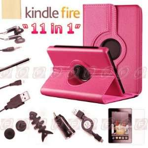 TsirTech 11 in 1 Kindle Fire 360°Rotat ing Case Cover/Car