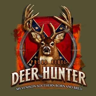 Buckwear T Shirt NEW: Proud Rebel   Deer Hunter