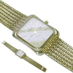 Geneve Quartz Mens Gold Watch Jewelry Days Watches