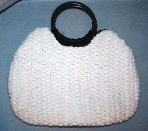 Talbots wool/angora Knit Purse Bag