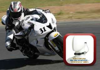 Bluetooth Throat Mic for IPhone Motorcycles (No Inside Helmet) Bike