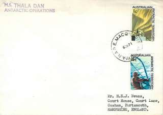 AUSTRALIA   1971 Antarctic Cover  Macquarie   Thala Dan