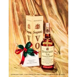 1950 Ad Seagrams VO Imported Canadian Whisky Distillers New York Holly