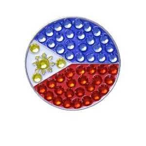 Bella Crystal Philippine Flag Hat Clip Set: Sports