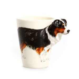 Australian Shepherd Dog 3D Ceramic Mug   Tricolor: Home