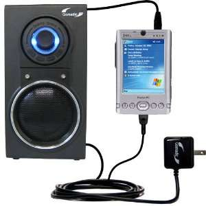 Audio Speaker with Dual charger also charges the Dell Axim x30