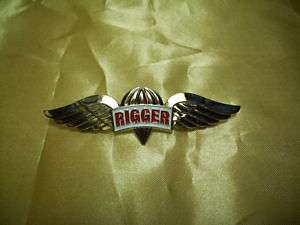 ROC Taiwan Army Airborne Parachute RIGGER wing pin