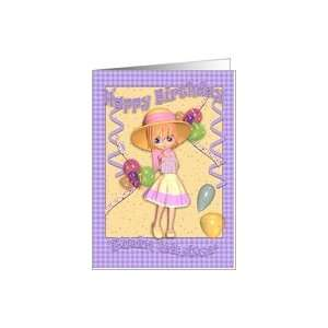 Twin Sister Birthday Card   Cute Little Girl Card: Health