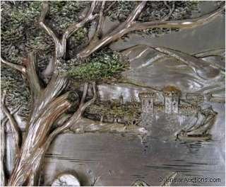Paesaggio w/ COA ARG.925 R Silver Framed Art 26x22