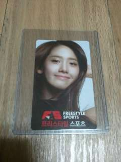 SNSD GIRLS GENERATION FREE STYLE YOONA PHOTO CARD ( TYPE A )