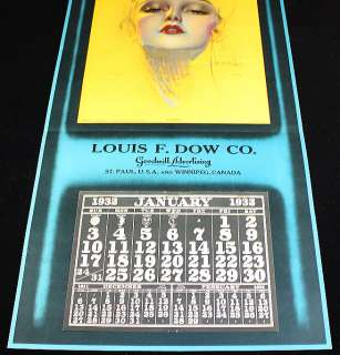 ROLF ARMSTRONG 32 PIN UP CALENDAR CHERIE ART DECO FLAPPER RARE LOUIS