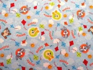 New Baby Looney Tunes Fabric BTY Bugs Bunny Taz Tweety Bird VIP