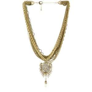 Leslie Danzis Gold Tone Ethnic Inspired Pearl Pendant