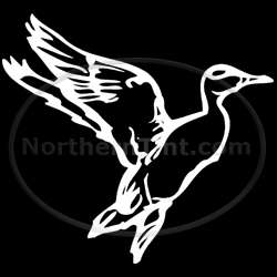 Duck hunting vinyl wall art car truck decal sticker 108