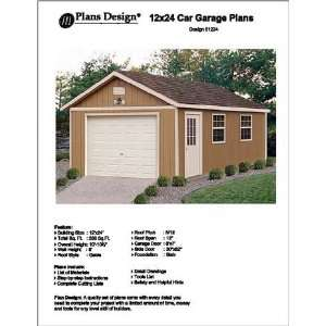 Brokie garage plans with material list for Garage plans with living quarters