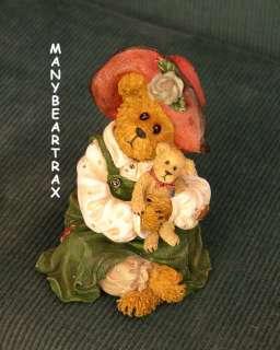 Boyds 1E bearstone~Patricia w Buddy ~Best Friends teddy