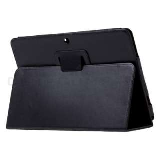 Asus Transformer TF101 Eee Pad Black Leather Case Stand