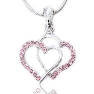 Heart Charm Pendant Necklace Elegant Trendy Fashion Jewelry Jewelry